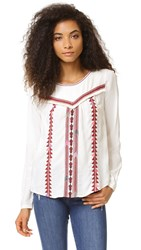 Scotch And Soda Maison Scotch Boho Embroidered Top Multi