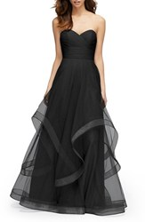 Watters Women's 'Florian' Strapless Horsehair Ruffle Tulle A Line Gown