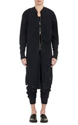 Greg Lauren Long Zip Front Studio Shirt Black