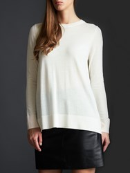 Modern Rarity Merino Wool Crew Neck Jumper White Pink