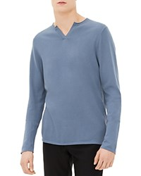 Sandro V Neck Sweater Blue Grey