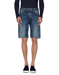 Uniform Denim Denim Bermudas Men Blue