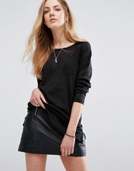 Blend She Safira Slub Jumper Black