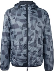 Armani Jeans Graphic Print Jacket Grey