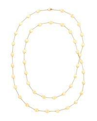 Siviglia 18K Gold Long Station Necklace 36'L Marco Bicego Red