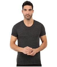 Alternative Apparel Eco Jersey Burnout Drop Neck Crew Black Burnout Men's Clothing