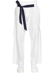 Bikkembergs 26Cm Loose Fit Linen And Cotton Pants