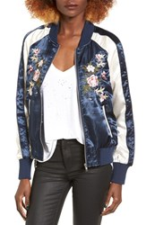 Jolt Women's Embroidered Satin Bomber