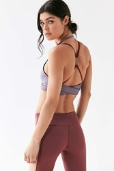 Without Walls Double Bridle Sports Bra Purple