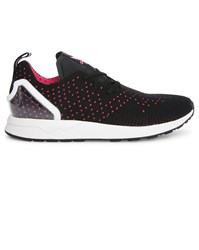 Adidas Black And Pink Zx Flux Racer Sneakers