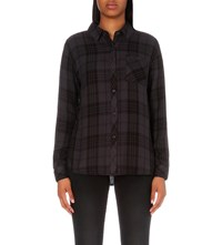 Rails Hunter Checked Flannel Shirt Carbon Black