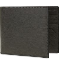 Canali Saffiano Leather Wallet Brown