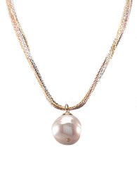 Majorica Baroque Organic Man Made Pearl Pendant Necklace White