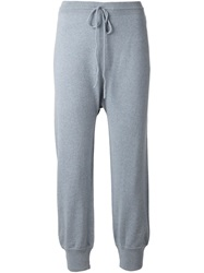 Barrie Ribbed Cuff Track Pants Grey
