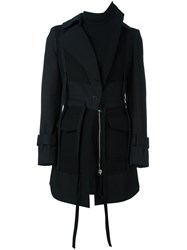 Alexander Mcqueen Hooded Coat Black