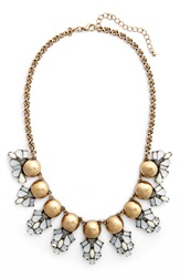 Girly Crystal Statement Necklace Crystal Ivory