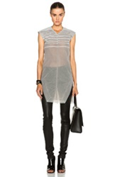 Rick Owens Tulle And Degrade Shell Dress In Gray