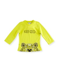 Kenzo Long Sleeve Crew Neck Jersey Tee Bright Yellow Size 12M 2Y