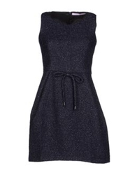 Miriam Ocariz Short Dresses Dark Blue