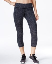 Ideology Space Dyed Capri Leggings Only At Macy's Noir Space
