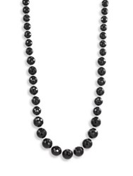 Chan Luu Long Onyx And Sterling Silver Necklace