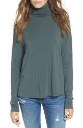 Women's Bp. Long Sleeve Turtleneck Tee Grey Urban