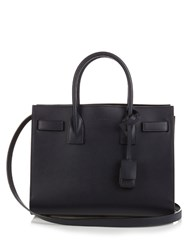 Saint Laurent Sac De Jour Baby Leather Tote Navy
