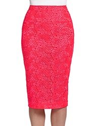 A.L.C. Towner Lace Pencil Skirt Neon Pink