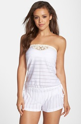 Lucky Brand 'Natural Connection' Strapless Romper White