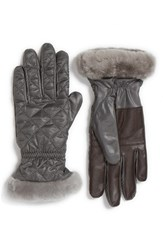 Uggr Women's Ugg Australia Quilted Water Resistant Tech Gloves Grey