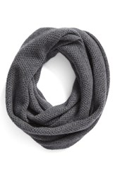 Halogenr Women's Halogen Knit Cashmere Infinity Scarf Grey Dark Heather