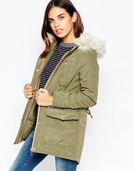 Michelle Keegan Loves Lipsy Parka Coat 021Green