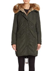 Creenstone Faux Fur Trimmed Parka Green