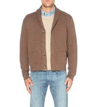 Polo Ralph Lauren Micro Pattern Cotton Blend Cardigan Olive Houndstoo