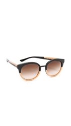 Tory Burch Eclectic Sunglasses Black Cream Brown Gradient