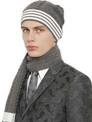 Thom Browne Cashmere Cable Knit Beanie Hat
