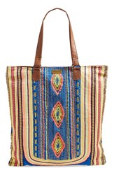 Junior Women's Rip Curl 'World Traveler' Embroidered Beach Tote