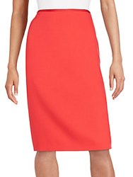 Escada Wool Pencil Skirt Bright Red