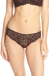 Free People Women's 'Behind Your Eyes' Cheeky Briefs Black Combo