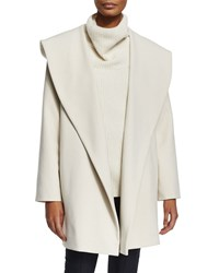 The Row Shawl Collar Crepe Belted Jacket Ivory Cream