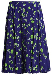 Banana Republic Liliana Pleated Skirt Blue