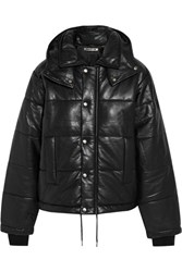 Mcq By Alexander Mcqueen Hooded Quilted Leather Jacket Black
