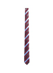 Mauro Grifoni Regimental Stripe Silk Tie Red