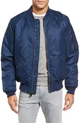 Schott Nyc Men's Ma 1 Flight Jacket Navy