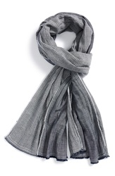 Rag And Bone Chambray Stripe Scarf Indigo
