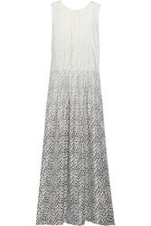 Band Of Outsiders Leopard Print Silk Twill Dress White