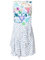 Peter Pilotto Asymmetric Ruffle Dress Multicolour