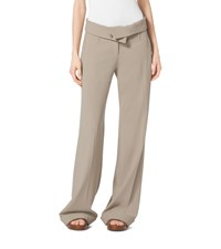 Wool Serge Fold Over Trousers