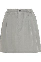 Laain Cotton And Silk Blend Mini Skirt Gray