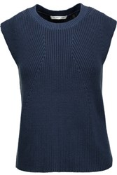 Helmut Lang Ribbed Cotton Sweater Storm Blue